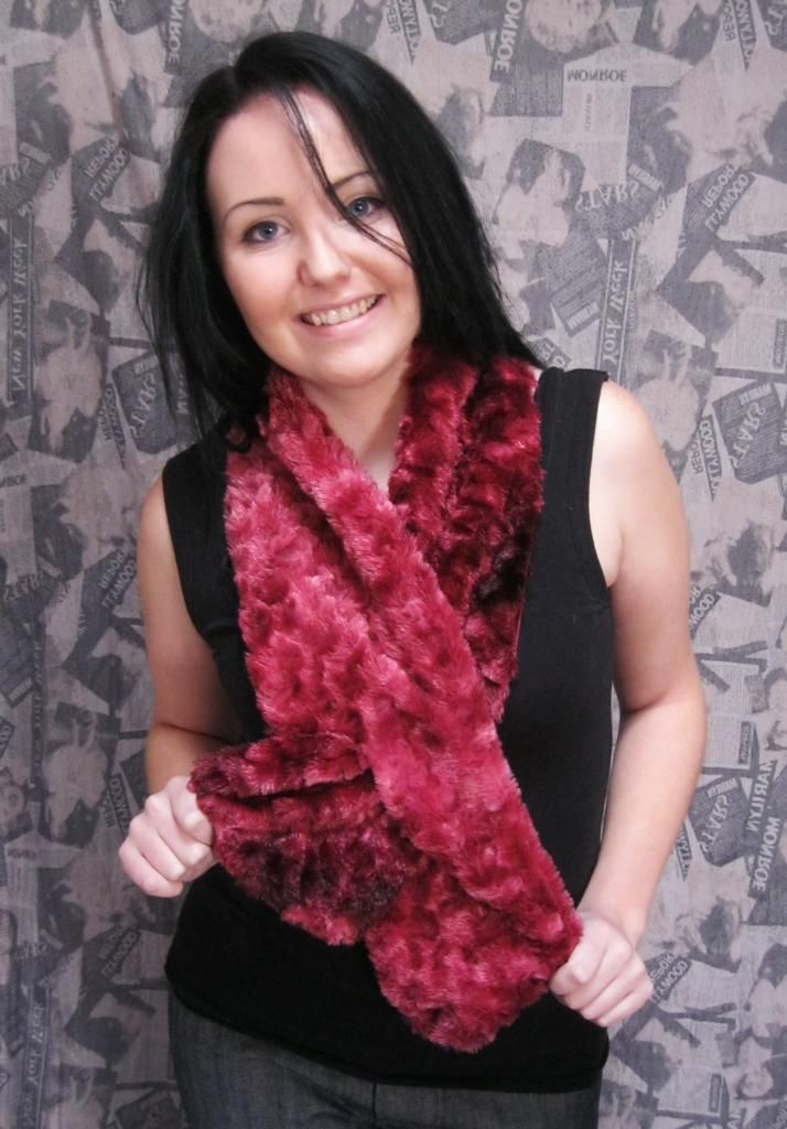 The pull through scarves i make... Only R110 each ,made in artificial fur or in other fabrics