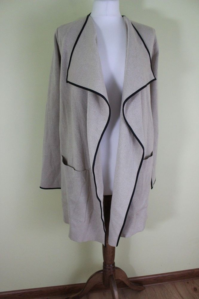 ZARA BNWT beige color woman sweater coat jacket size S UK 8 #Zara #TrenchCoat #Casual