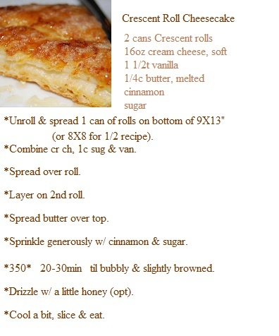 Crescent Roll Cheesecake