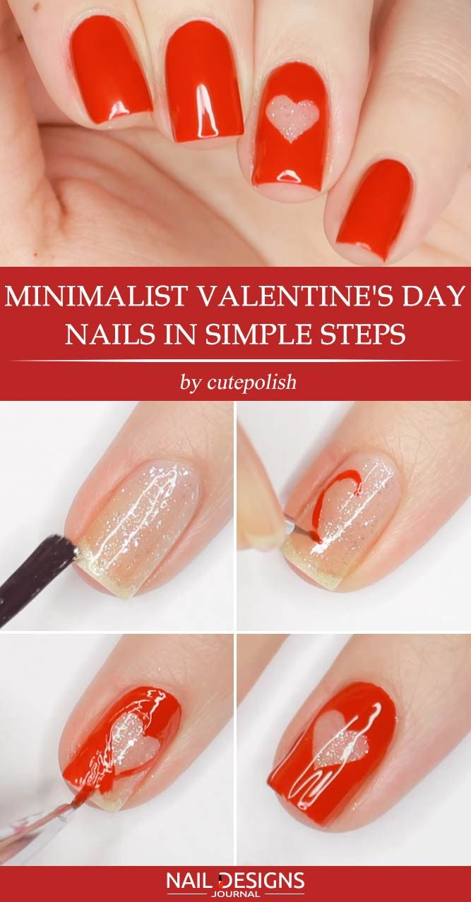 Easy Tutorials Of Hot Valentines Nails Designs Beauty Pinterest