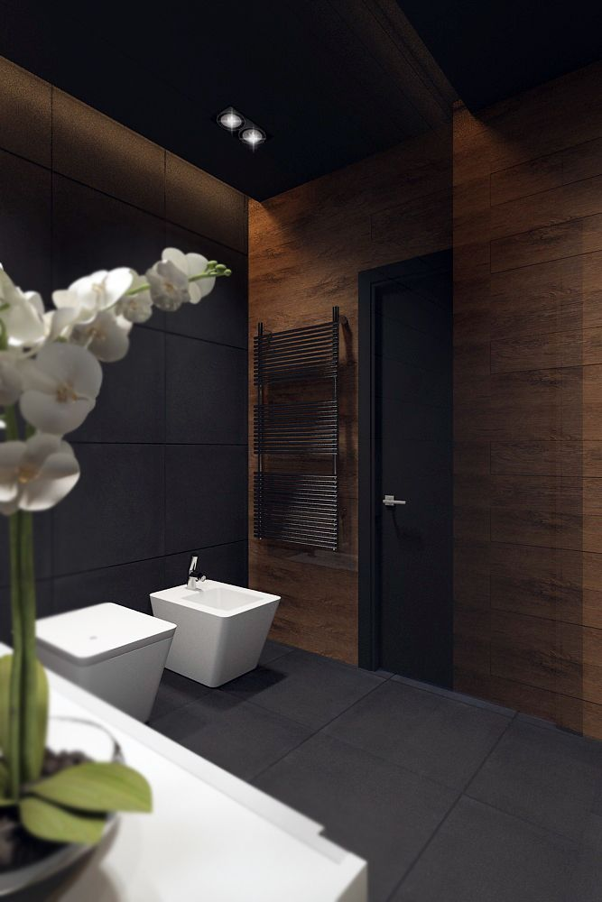 dark tiles in bathroom bathroom blackstyle on behance санузел 18055
