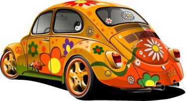 Resultado de imagen de vinilo coche hippie