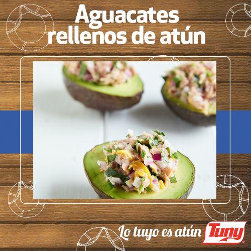 Aguacates rellenos de atún Tuny. Un delicioso snack para acompañar la tarde.  #RecetaTuny