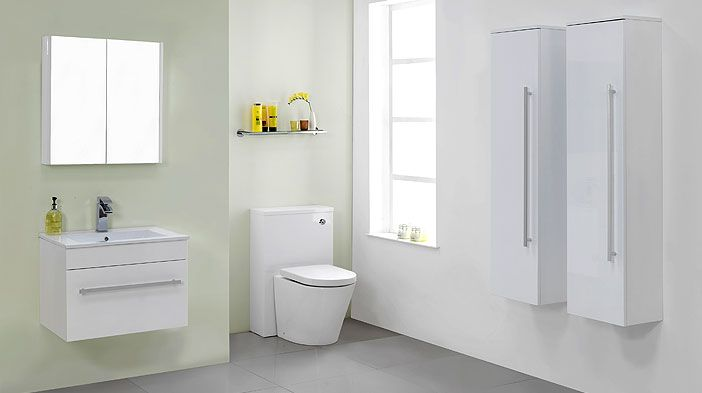 Victoria plumb odessa white bathroom furniture bathroom for Bathroom cabinets victoria plumb