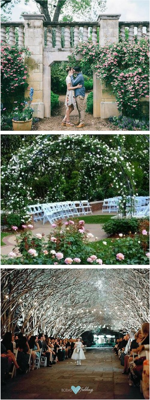 Arboretum Dallas, Texas wedding venues. Dallas Arboretum and Botanical Garden Engagement Featuring Gorgeous Foxglove Groves. Photograph by blue elephant photography. | So romantic! Photo by Jennefer Wilson Photography.