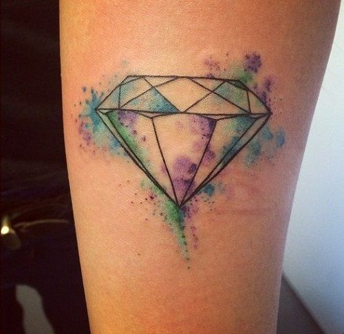 thin-violet-and-green-diamond-tattoo