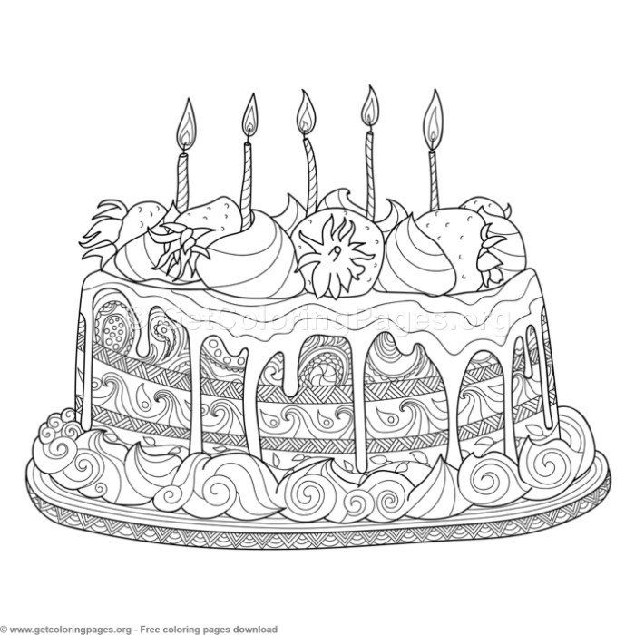 4 Zentangle Doodle Cake Coloring Pages Free Instant Downloads Coloring Coloringbook Coloringpages Doodle Coloring Pages Coloring Books Food Coloring Pages