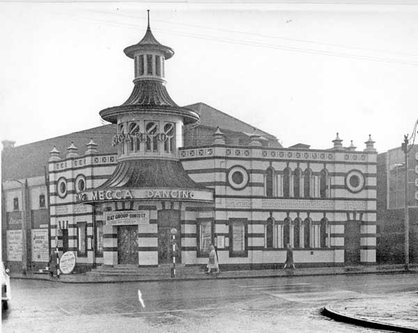 The Locarno, junction of London Road and Boston Street, formerly The Lansdowne Picture Palace. Opened 1914. Canopy fitted 1937. Closed as a cinema 12 December 1940. In 1947 became a temporary Marks and Spencer. Known as Mecca, Locarno, Tiffany's and