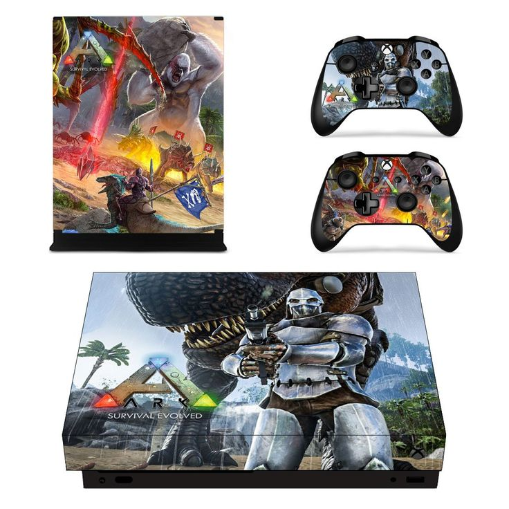 ARK Survival Evolved xbox one X skin decal for console and 2 controllers