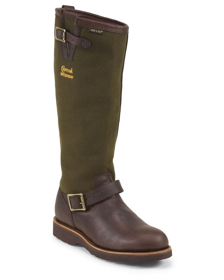 """Chippewa Men's 17"""" Briar Pitstop Pull On Waterproof Snake Boot - 25110"""
