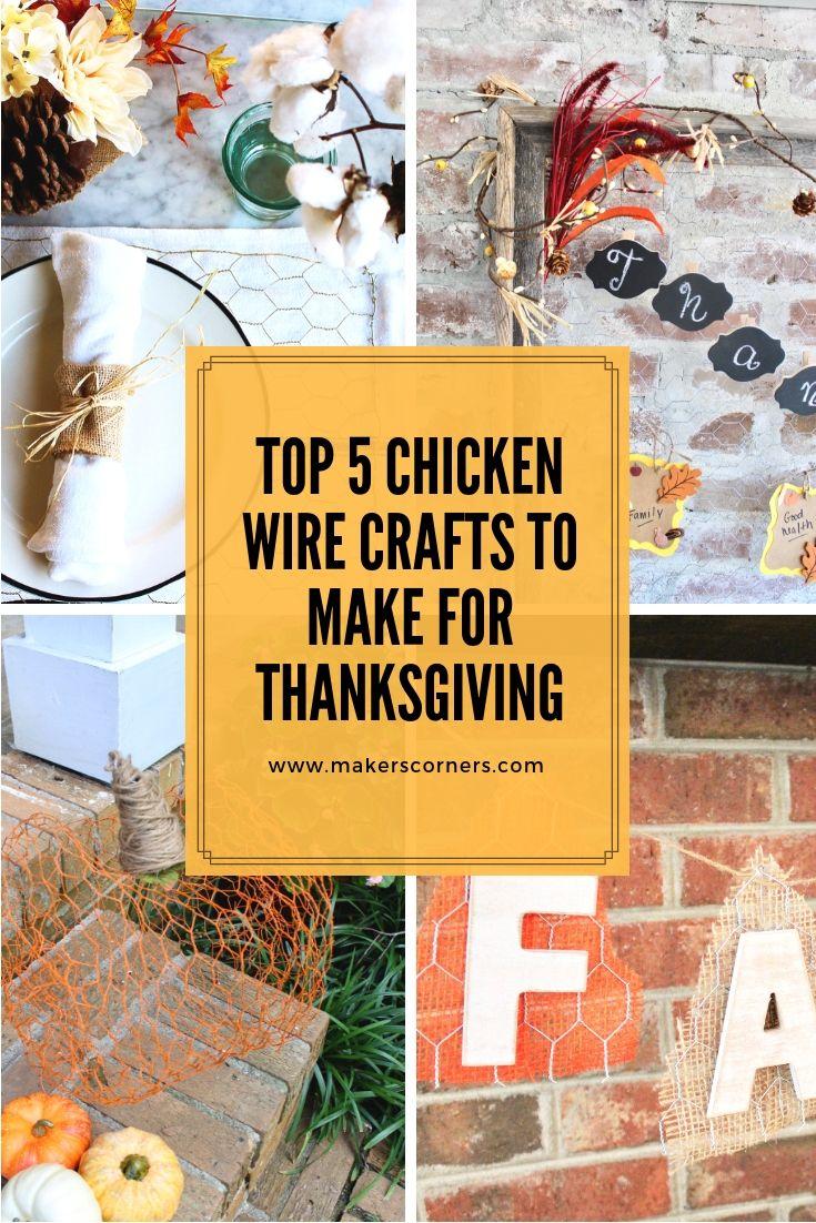 Top 5 DIY Chicken Wire Crafts to Make for Thanksgiving! | Chicken