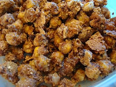 "Cinnamon Sugar Peanut Buttery Chickpea ""Peanuts"" with Peanut Flour"