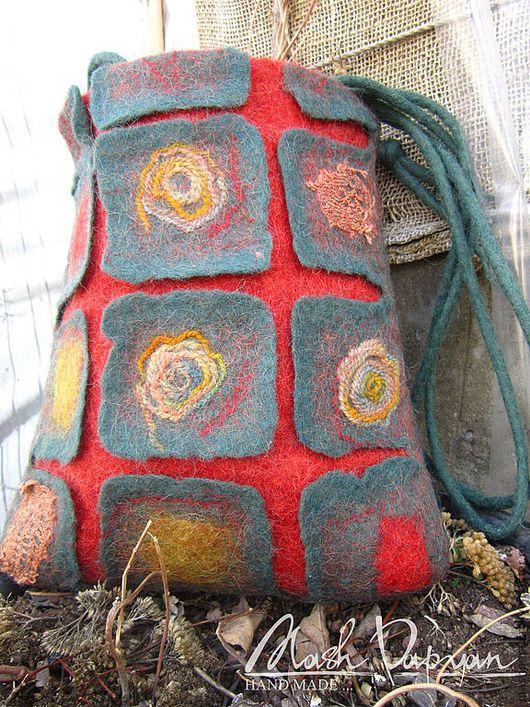 """Женские сумки ручной работы. Ярмарка Мастеров - ручная работа. Купить Валяная сумка """" Мои Корни """". Handmade."""