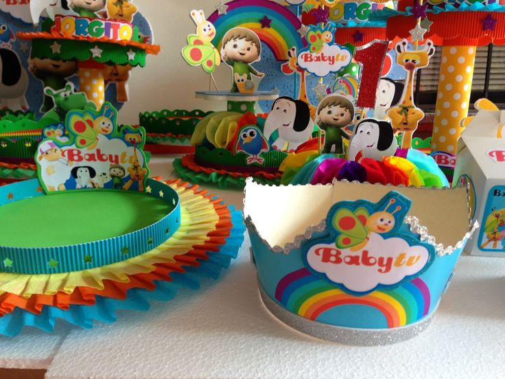 DECORACIONES INFANTILES: baby tv : cumpleau00f1os baby tv : Pinterest : Babies and TVs