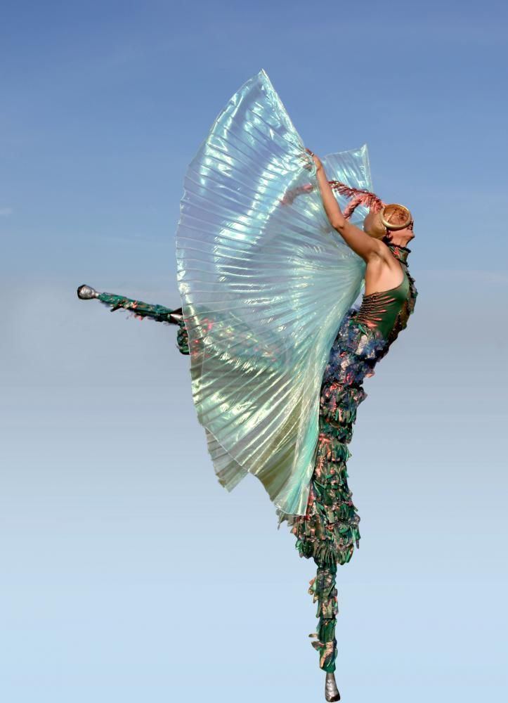 Stilt fairy with wings! #costume