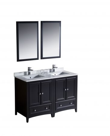 Photo Gallery On Website Double Vanity in Espresso with Ceramic Vanity Top in White and Mirror The Home Depot