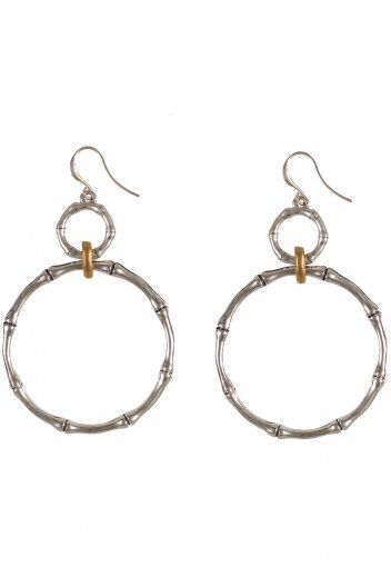 Hultquist Bamboo & Dragonfly Round Drop Hook Earring www.sue-parkinson.com