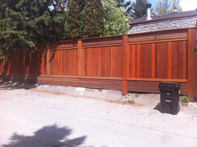 100% Privacy. Exotic Hardwood Fencing supplied by Kayu Canada.