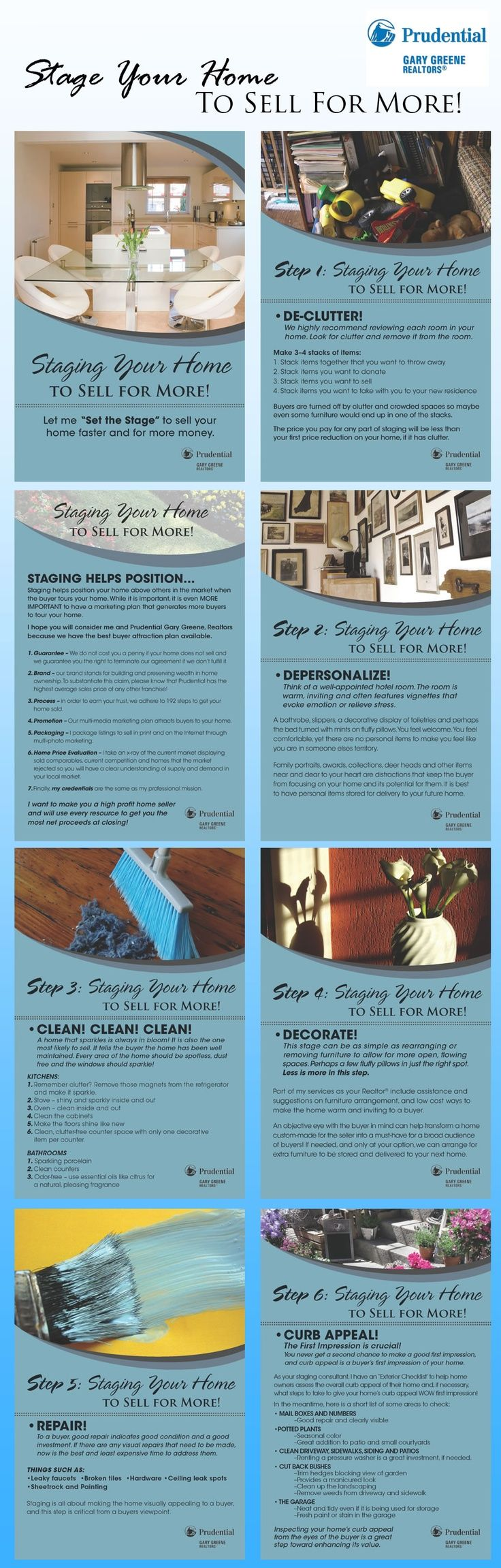 Staging your home when you want to sell increases the chance of not only selling quickly but getting the offer you want! Check out these tips!