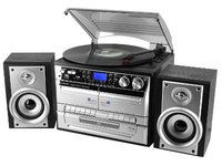 Soundmaster Musiikikeskus (LP, CD/MP3, USB, 2xCassette, Radio) äänitys usb tikulle - Konerauta.fi