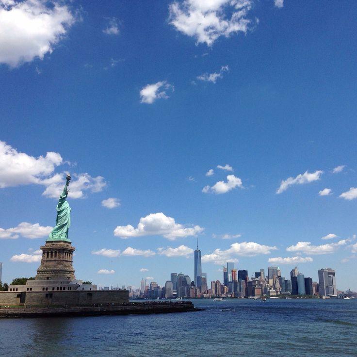 NEW YORK CITY  #newyork #manhattan #usa #travel #ontheroad #unitedstates #ellisisland #libertyisland #statueofliberty #bluesky #nofilter #sunnyday #inmymind