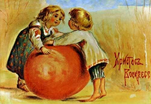 old russian easter postcards | ... gallery' of old style pre-revolution Russian Easter postcards. Enjoy