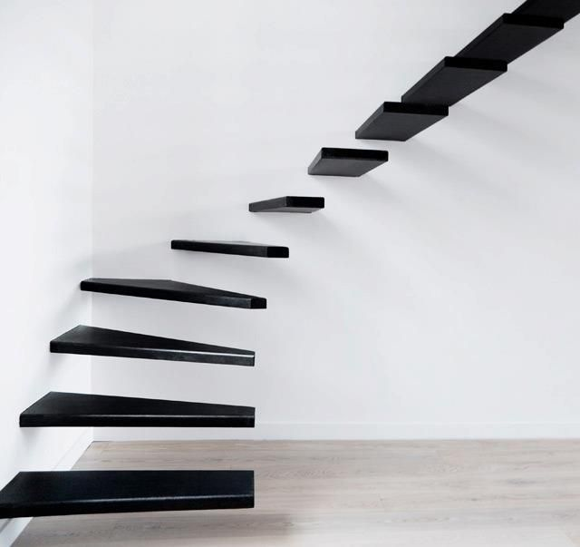 Very cool. And also driving me nuts trying to figure out how these could actually be possible without the free end bending eventually. But it did say staircase design IDEA....so maybe that's it....the idea, not the actual implementation?