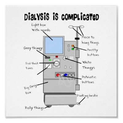 Dialysis Humor Gifts for Nurses, Techs, Patients Poster from http://www.zazzle.com/dialysis+posters