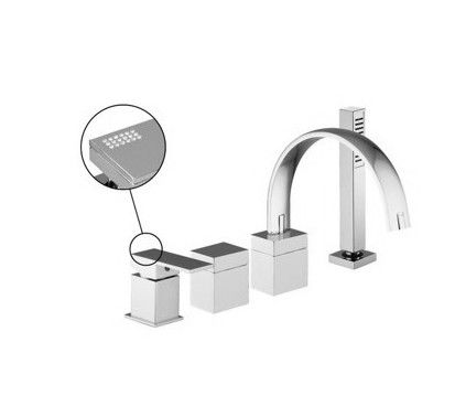 fima frattini by nameeks bathtub faucet with hand shower - Bathtub Faucets