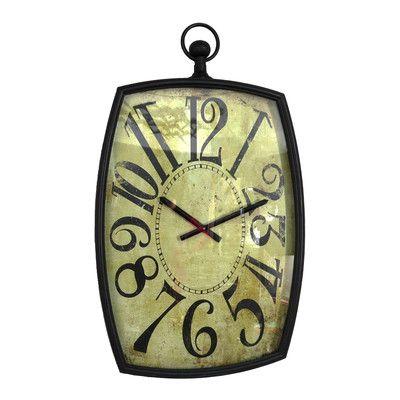 Wilco Home Timberland Metal Bulova Wall Clock