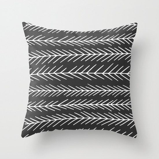 As seen in Real Simple Magazine, dark gray pillow cover, fir tree pillow cover, graphic pillow cover, scandinavian pillow cover, minimalist