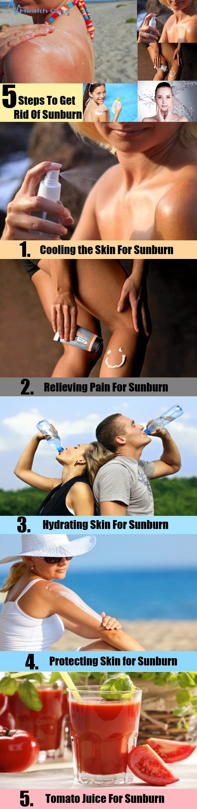 How To Get Rid Of Sunburn - 5 Easy Steps
