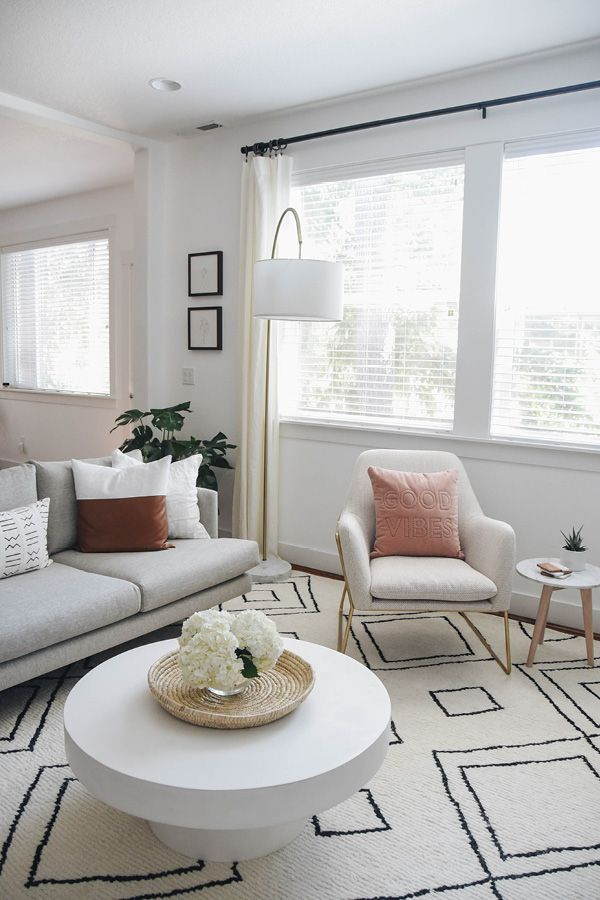 Forma Milkyway Ivory Chair Living Room Scandinavian Living Room Reveal Farm House Living Room