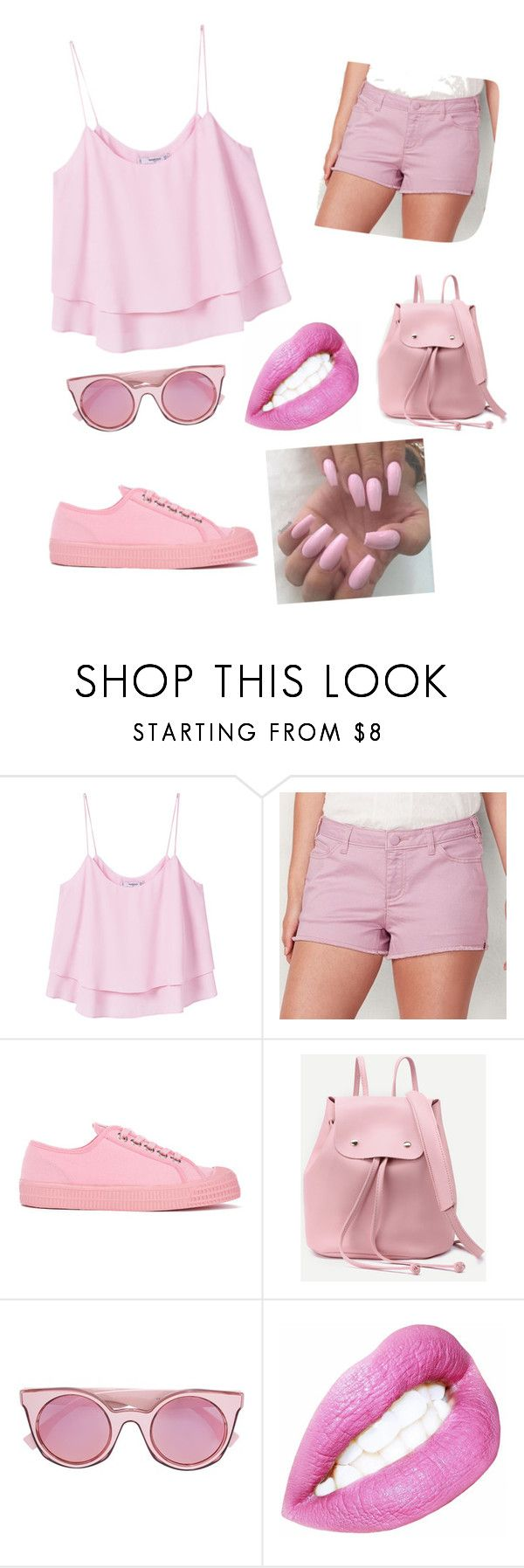 """one colour"" by buflie ❤ liked on Polyvore featuring MANGO, LC Lauren Conrad, Novesta and Fendi"