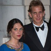 Aug 31/13    Son of Princess Caroline, Andrea  Casiraghi, has tied the knot with Colombian heiress Tatiana Santo Domingo Around 11am the pair said 'I do' and loud applause and cheers were heard as the happy couple stepped out as man and wife. Andrea, Tatiana reportedly carried out their nuptials under the shade of palm trees in grounds overlooking the marina. Andrea is second in line to throne of Monaco. NO WEDDING PHOTOS AS YET AVAILABLE