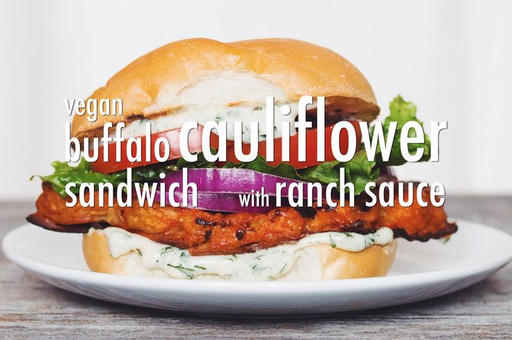 Spicy Vegan Cauliflower Burger Recipe