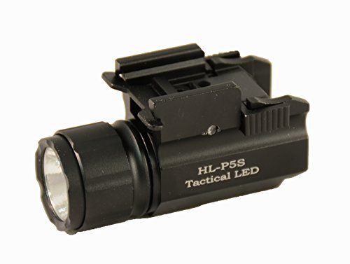 Aimkon HiLight P5S 400 Lumen Pistol LED Strobe Flashlight with Weaver Quick Release Compact and Subcompact Pistols Black ** Check out this great product.