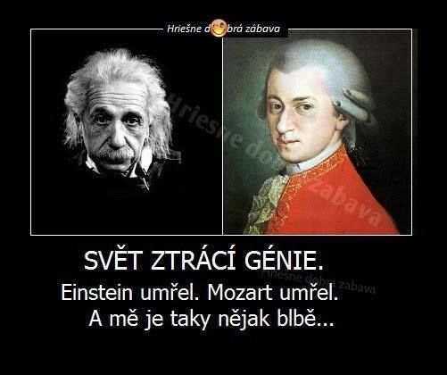 Svět ztrácí génie