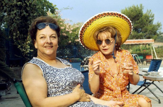 No Merchandising. Editorial Use Only Minimum use fee GBP 50 Mandatory Credit: Photo by ITV/REX/Shutterstock (669487jz) 'Coronation Street' TV - 1974 - Betty Turpin (Betty Driver) and Hilda Ogden (Jean Alexander). ITV ARCHIVE