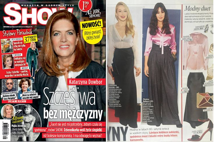 Stunning Kasia Warnke in PODWIKA in SHOW magazine  #podwika #podwikadress #kasiawarnke #warnke #fashion