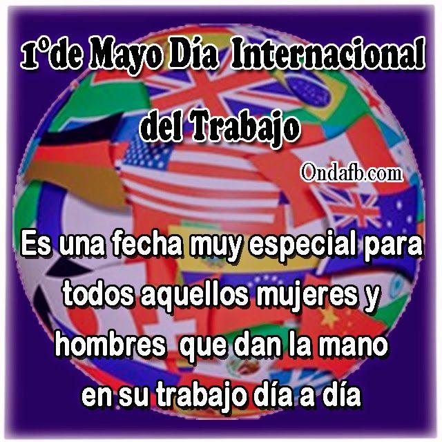 Imagen de 1°de mayo por el día internacional del trabajo para compartirlo en el facebook