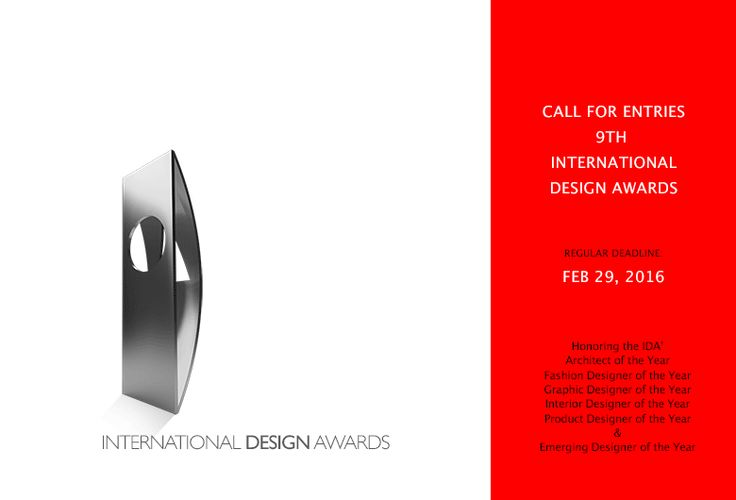 Call for Entries to the 9th International Design Awards Competition | Tododesign by Arq4design