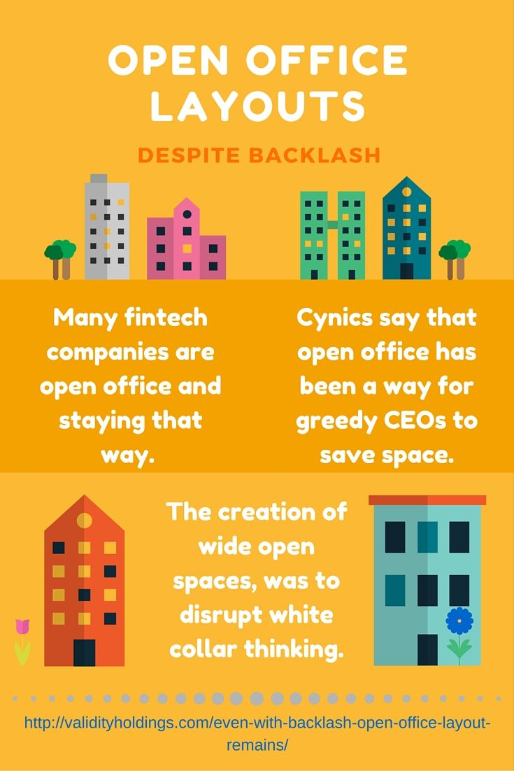 """""""The open office backlash may be a temporary setback, and actually does build a sense of community within the work culture after all. It's just experiencing growing pains."""""""