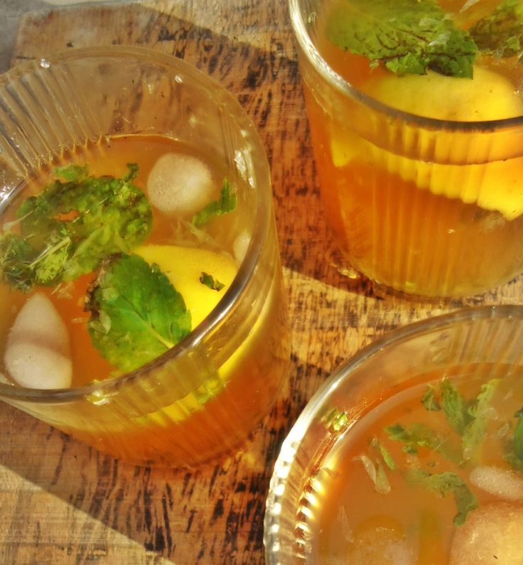 a refreshing cool green tea mocktail for summers!
