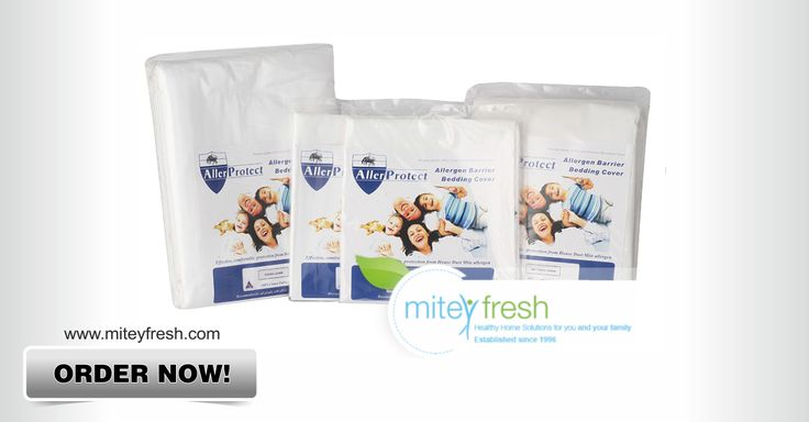 Dust Mite Bed Set Cotton AllerProtect:  This all-in-one, no-fuss cotton Allerprotect set provides you with everything you need to keep allergens at bay: a system with encasements for the mattress, doona and pillows. Find more details and order here: http://ow.ly/D0LNC