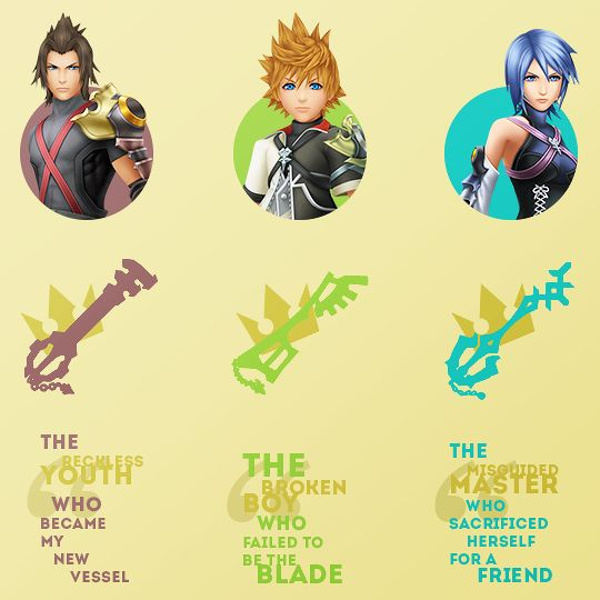 """"""" Kingdom Hearts Birth by Sleep ♦ Terra, Ventus and Aqua ☇ Inspired by this [+] """""""