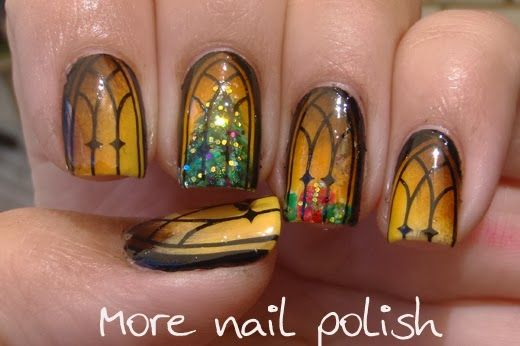 Isn't this spectacular?!? More Nail Polish: Nail Polish Canada - Holiday Nail Art Challenge - Holiday Memories