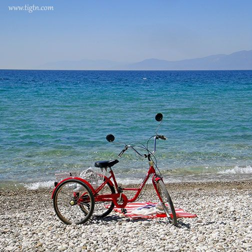 Getting to the beach in style... Plaka Beach in #Drepano, #Argolida - #Greece