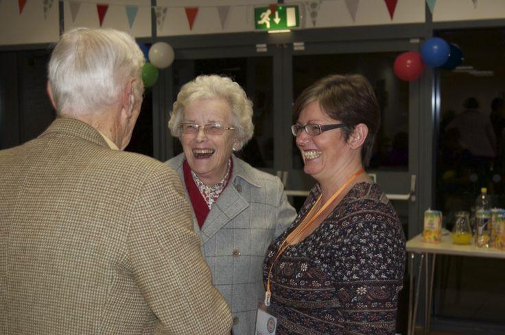 Guests chatting to Zoe at Hub Cafe's Birthday Party - CringlefordHub