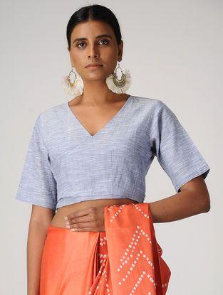 1d7816e8c3c8c Blue Handloom Cotton Wrap Blouse by Jaypore